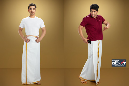 Velcro Dhotis Photo Shoot. Ramraj Gnext Cotton Pocket Dhoti Photo Shoot, Advertising Photography