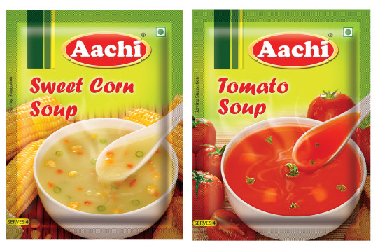 Product Photography Shoot of Aachi tomato soup