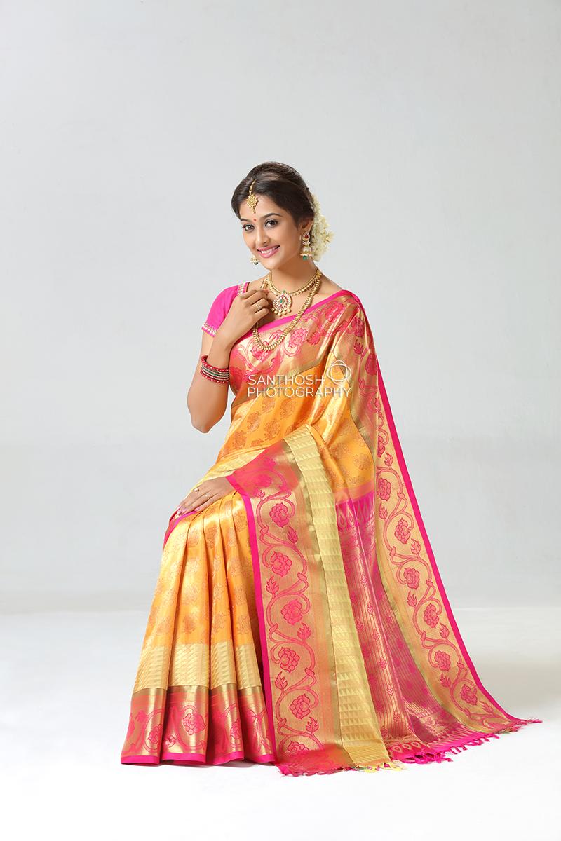 Silk saree photography