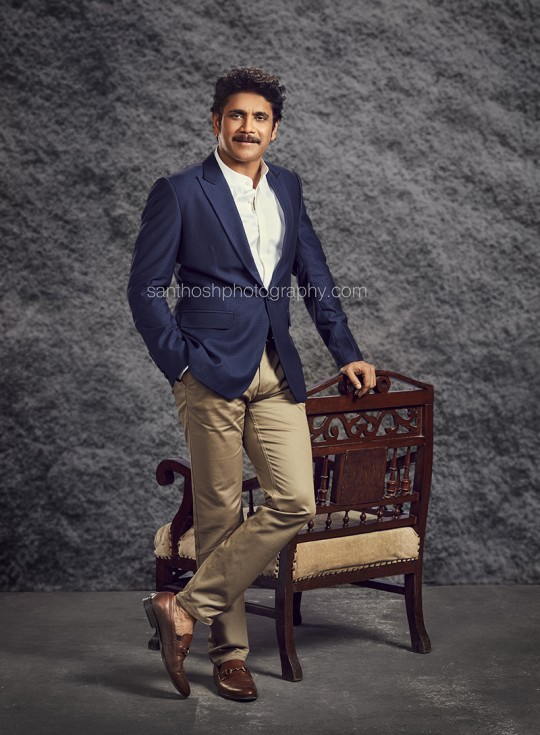 Indian film actor Akkineni Nagarjuna